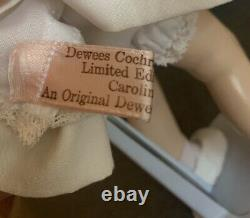Vintage Rare Dewees Cochran Caroline Kennedy Doll Signé Artiste 11 1/2